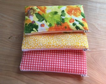 Cotton Print Pouch Lined
