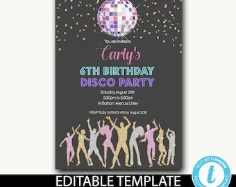 Disco Ball Invite Etsy