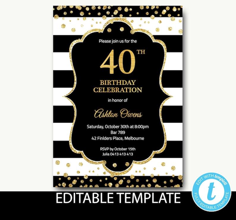 Birthday Invitation For Women