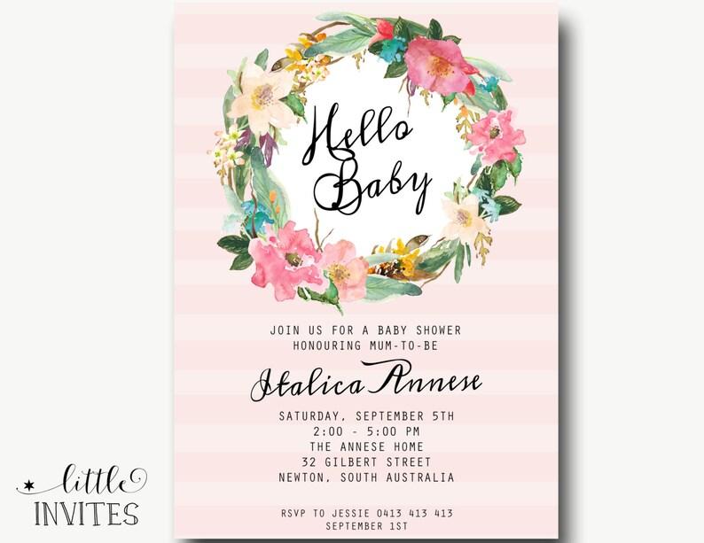 Baby Shower Invitation Shabby Chic High Tea Etsy