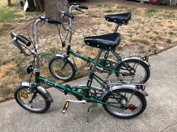 Pair of Huffy Touriste 3 Speed Folding Bicycles 1970s Collectible great for  Camper and traveling