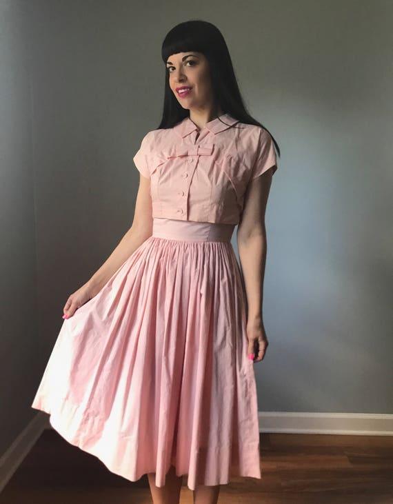 Rosa kleid jacke