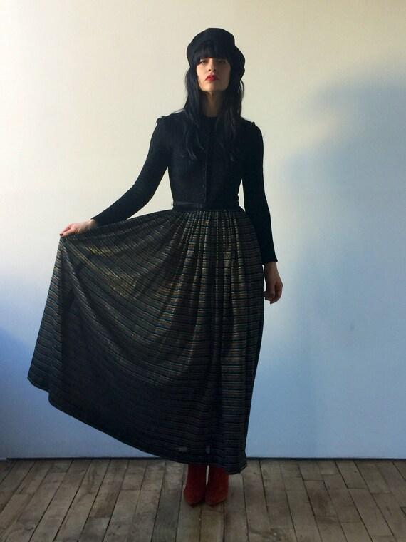 70s knit maxi dress | long sleeve maxi dress | lur