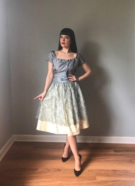 vintage 50s dress | 50s lace dress | cocktail part