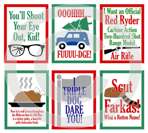 A Christmas Story Kid Now.A Christmas Story Movie Digital Scrapbooking Journaling Cards Ralphie Quote Xmas Project Life Pocket Page Inserts Digital Download
