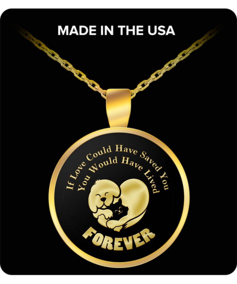 Choice of Metal Dog Cat Love Forever Pet Bereavement Gift Necklace Animal Lover