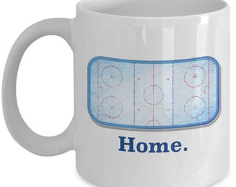Home Ice Hockey Rink Goalie Mug Gift for Player Goaltender Coffee Cup