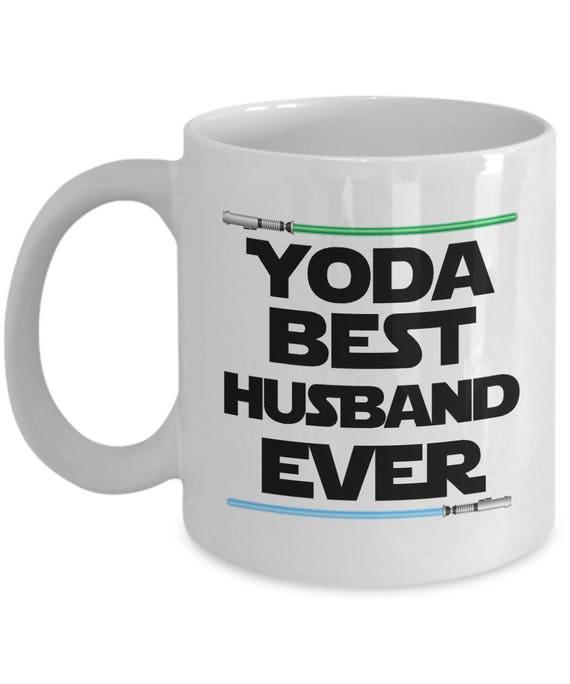 Yoda Best Husband Ever Mug Gifts Birthday Funny Nerd Gift Mugs