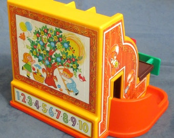 Fisher-Price Toy 926 CASH REGISTER with three coins