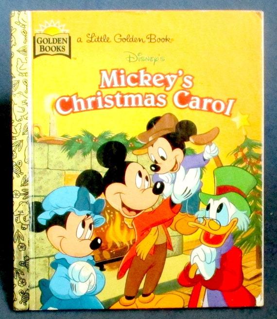 Mickeys Christmas Carol Book.Little Golden Book Mickey S Christmas Carol