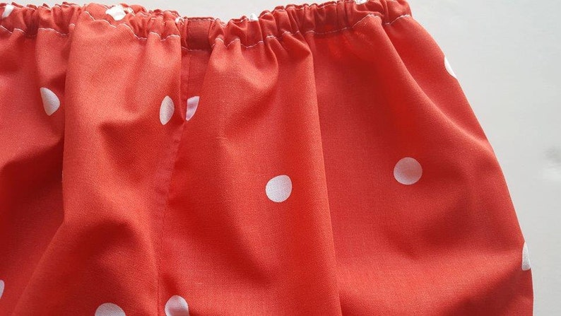 Red Riding Hood White Diaper Cover Shorts Toddler Baby Red Dot Bloomers Pants Red Nappy Cover Bright