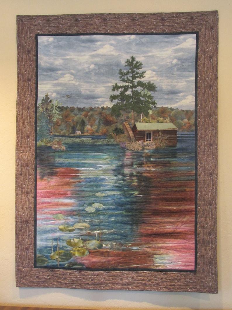 Landscape Quilt Flyin' In image 0