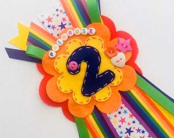 Birthday Age 50 /& Fabulous Rosette Ribbon Button Colorful Design Fun Party Gift