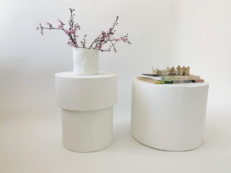 The Matilda Mushroom Shape Plaster Side Table image 0