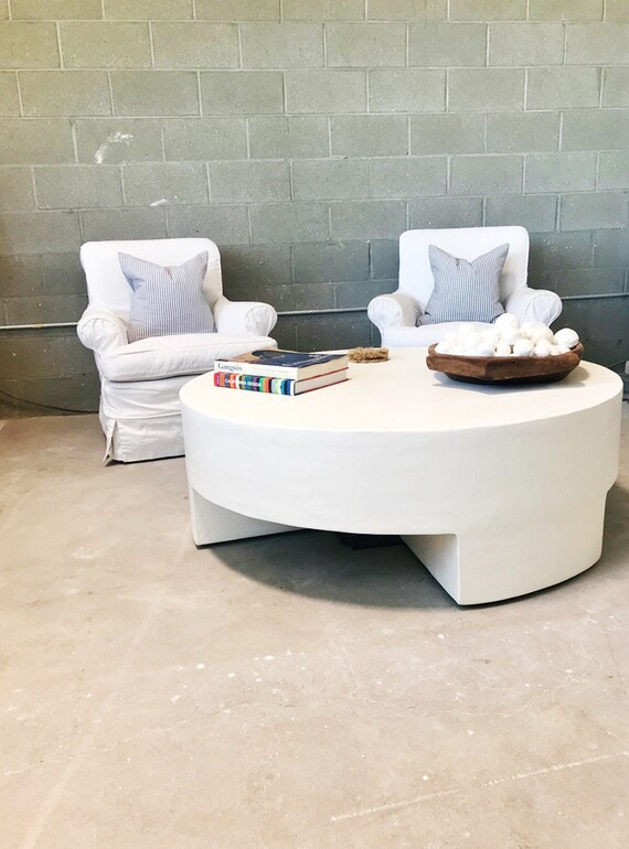 Surprising The Reed Plaster Round Coffee Table Lamtechconsult Wood Chair Design Ideas Lamtechconsultcom