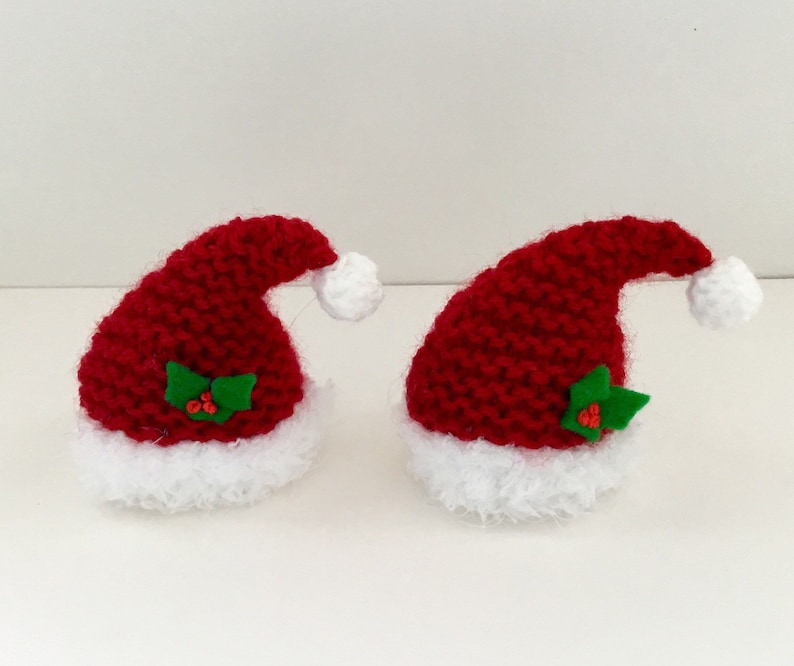 Hand knitted Santa hat covers for ferrero rocher chocolate x 2  f5b285a3a8b