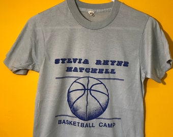 baf1eb7d Sylvia Rhyne Hatchell Basketball Camp North Carolina UNC Women's Team NBA  Sports Champions Grey Screen Stars T Shirt Tee Small S 1980s 80s