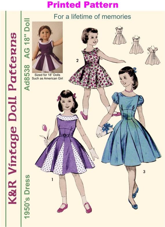 KRVPAd40PP 40 American Girl Vintage 40's Etsy Gorgeous American Girl Patterns