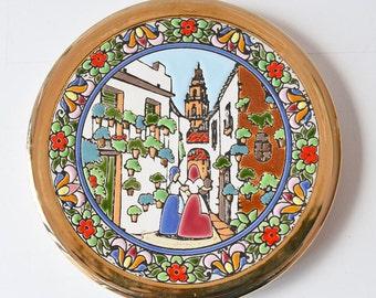 Handmade Spanish ceramic decorative plate