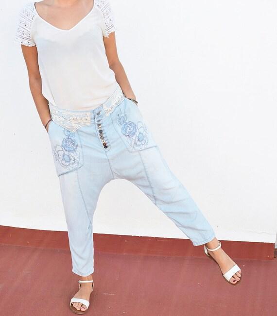 Desigual Pantalones Vaqueros Para Mujer Etsy