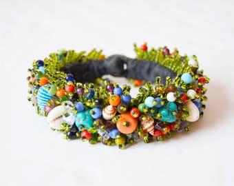 Lovely handmade bead bracelet