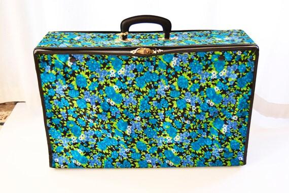 fabric suitcase, flower suitcase, foldable suitcas