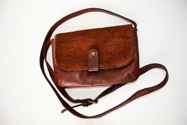71c27040975 Small leather bag Massimo Dutti
