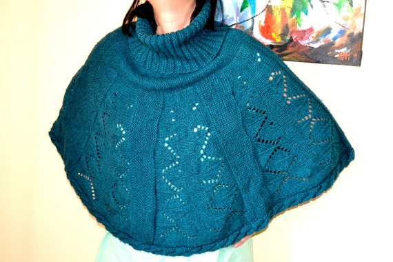 poncho autumn-winter fashion collar, knitted ponch