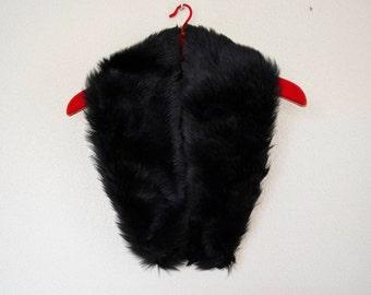 vintage skin scarf, vintage skin, black skin, fur stoles women, Wrap, Cape, Shrug, Fling, Scarf