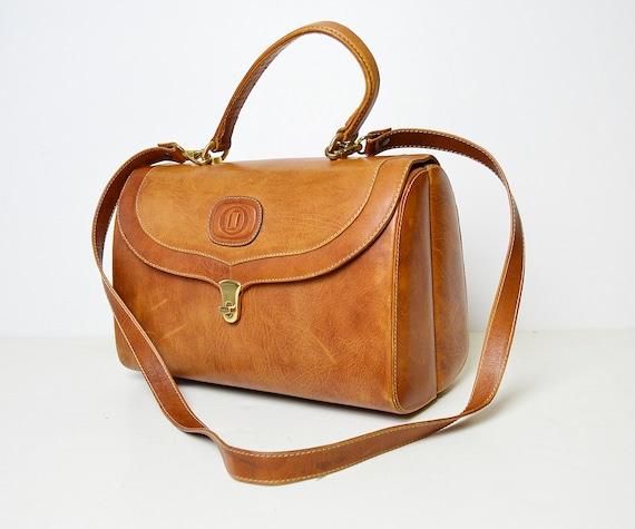 doctor's bag, brown leather bag, vintage leather b