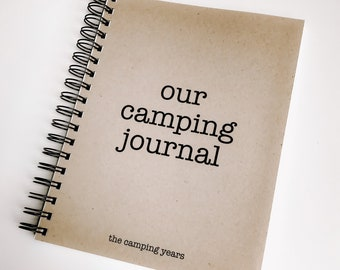 a60a92d26 Camping Journal, Travel Log, Full Time RV Journal, Traveling Journal, RV  Christmas Gift, Camping Log, Family Memory Book