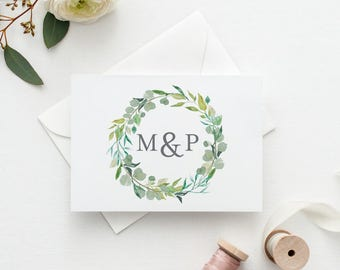 Personalized Thank You Cards Wedding, Personalized Couples Gift Idea, Watercolor Thank You Card, Thank You Cards for Wedding