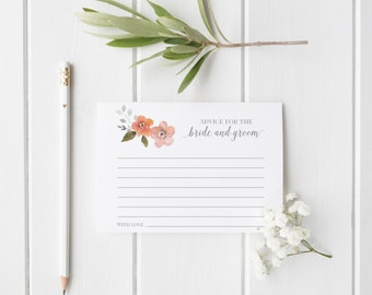 Wedding Advice Cards, Bridal Shower Game Ideas, Marriage Advice Cards, INSTANT DOWNLOAD