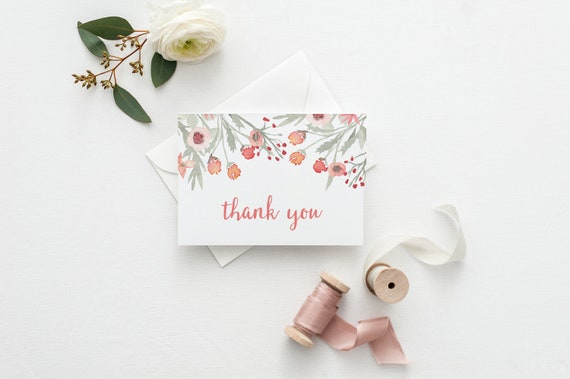 Thank You Cards For Wedding Thank You Cards For Bridal Shower Etsy