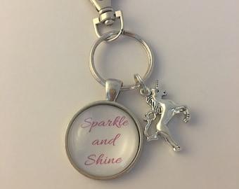 Sparkle and Shine Unicorn Keychain