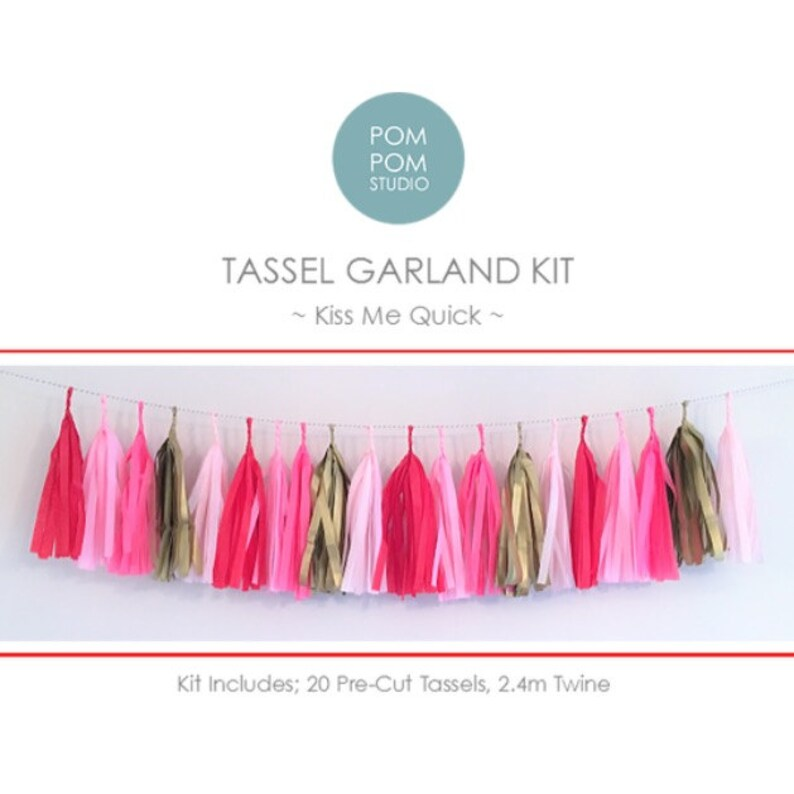 Diy Tassel Garland Kit Kiss Me Quick