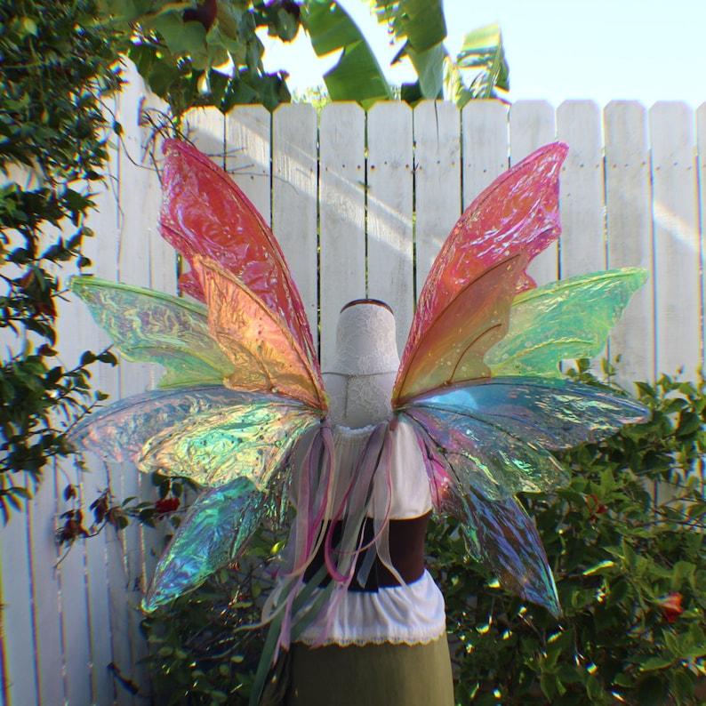 Custom Extra Large Rainbow Iridescent 12 Wing Fairy Woodland Wings