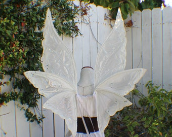 Custom XXL White and Clear 6 Wing Enchanted Fairy Inspired Wings