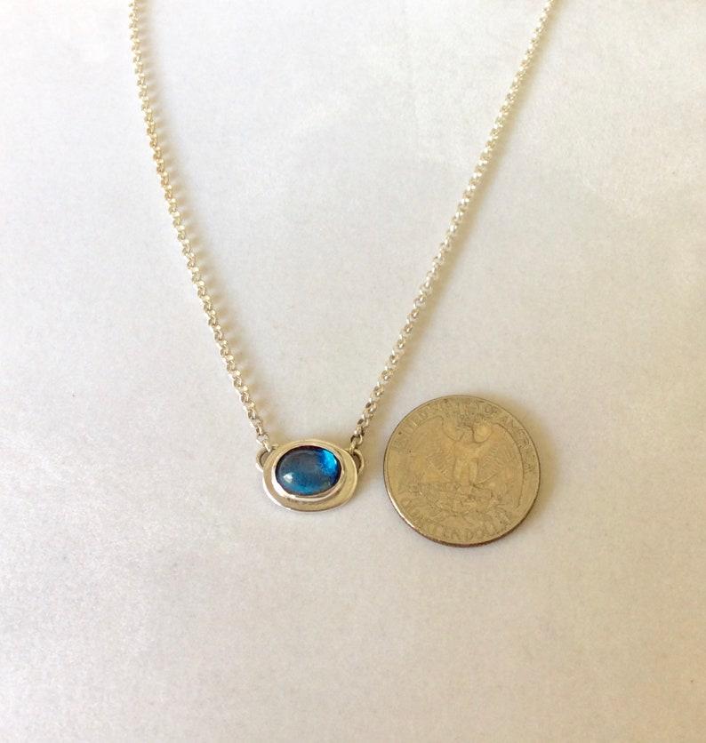 Choker Length Layering Necklace OOAK Santa Maria Aquamarine Pendant Birthstone Graduation Gift March Gift for Women