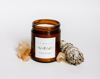 AMBER & SAGE - Soy Candle