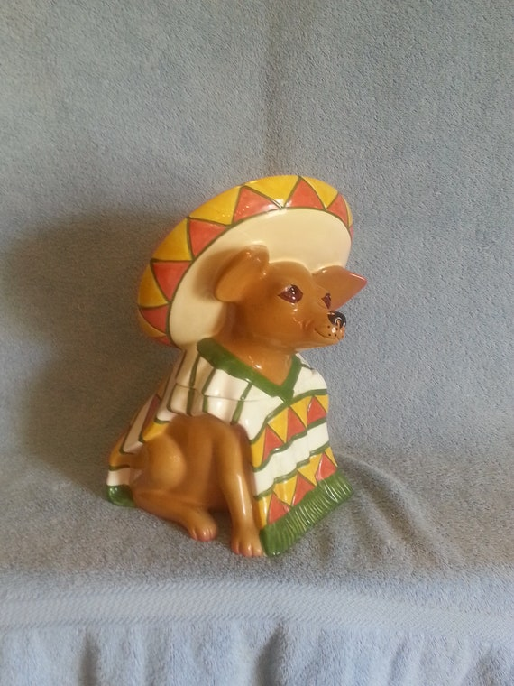 Chihuahua Cookie Jar Interesting Cookie Jar Treat Jar Dog Theme Chihuahua Theme Clay Etsy