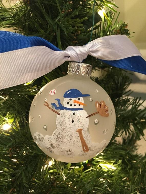 Sports BASEBALL Player Personalized Christmas Tree Ornament