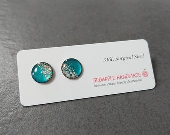 Turquoise Floral Earrings | Surgical Steel | Exclusive to Etsy
