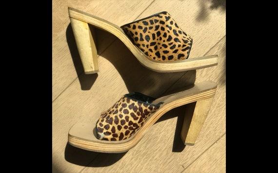 Cheetah Leopard Animal print Mules