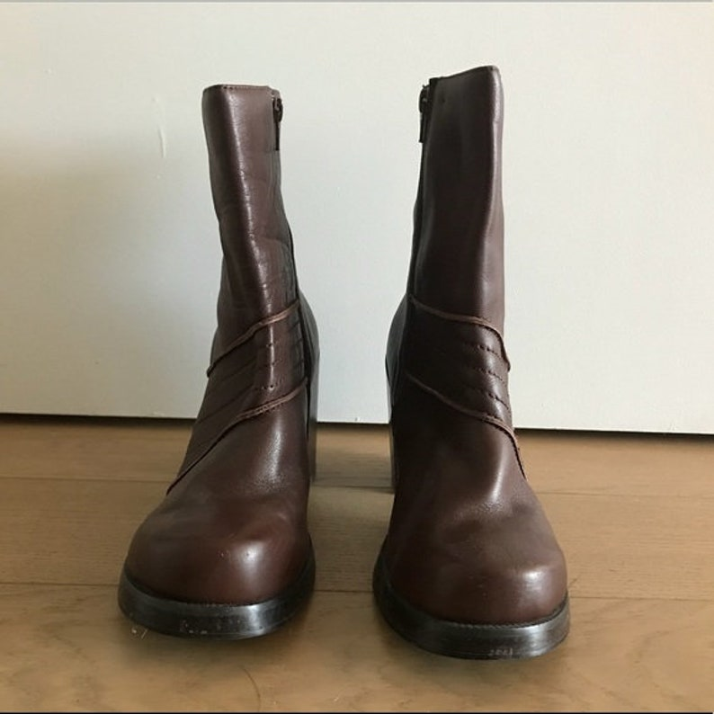 95cf5d6fa87 90s Brown Candies Chunky Platform Boots