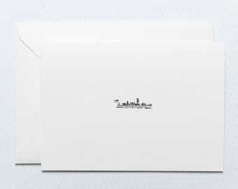 Little Boat - Letterpress greetings card
