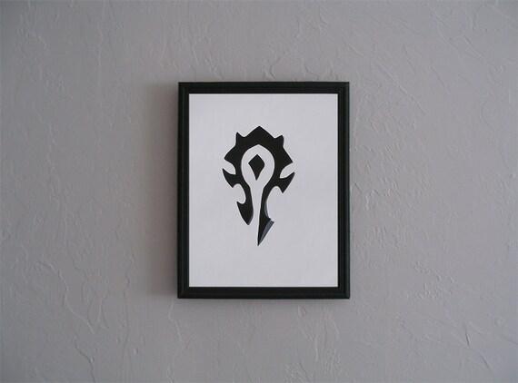 Wow World Of Warcraft Horde Symbol Hand Geschnitten Etsy