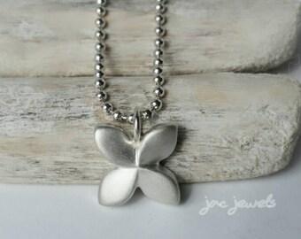 Pinwheel Flower Silver Flower Necklace, Silver Pinwheel, Flower Pendant, Silver Flower  - NCH19