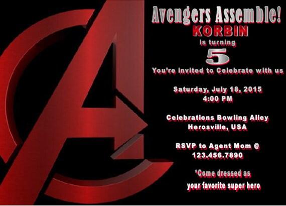 Invitaciones Avengers Primer Cumpleaños Partido Hierro Hombre Capitán América Invitan A