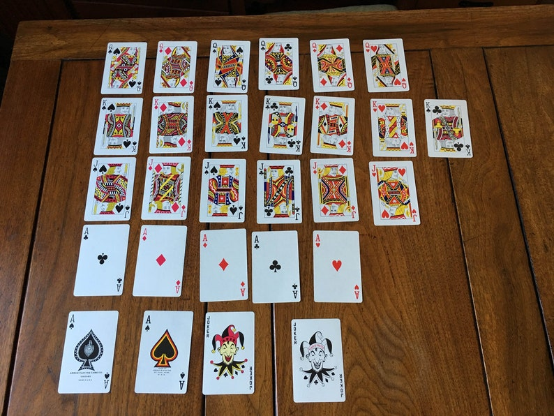 28 cards Queen of hearts King of diamonds ace & joker DIY playing card  bunting Alice in Wonderland Mad Hatter tea party casino poker garland